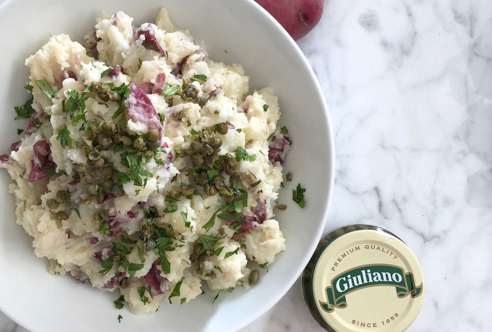 Rustic Mashed Red Potatoes With Capers