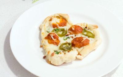 Heart Shaped Jalapeño Pizzas